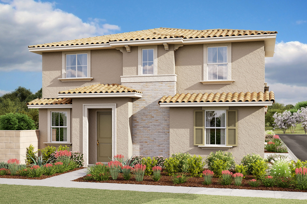 exterior rendering of plan 3 sunrise at harvest at limoneira