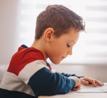 kid reading in class